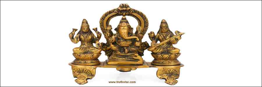 Lakshmi Ganesha worshiped